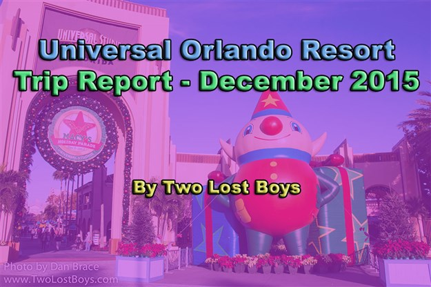Universal Orlando Resort Trip Report, December 2015