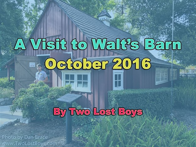 A Visit to Walt's Barn, October 2016