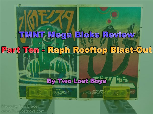 TMNT Mega Bloks Review, Part Ten - Raph Rooftop Blast-Out
